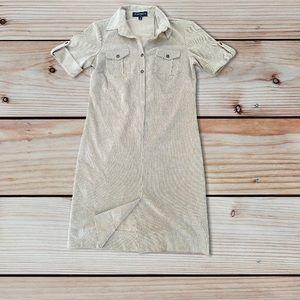 Sharagano Women's Corduroy Shirt Dress size 6